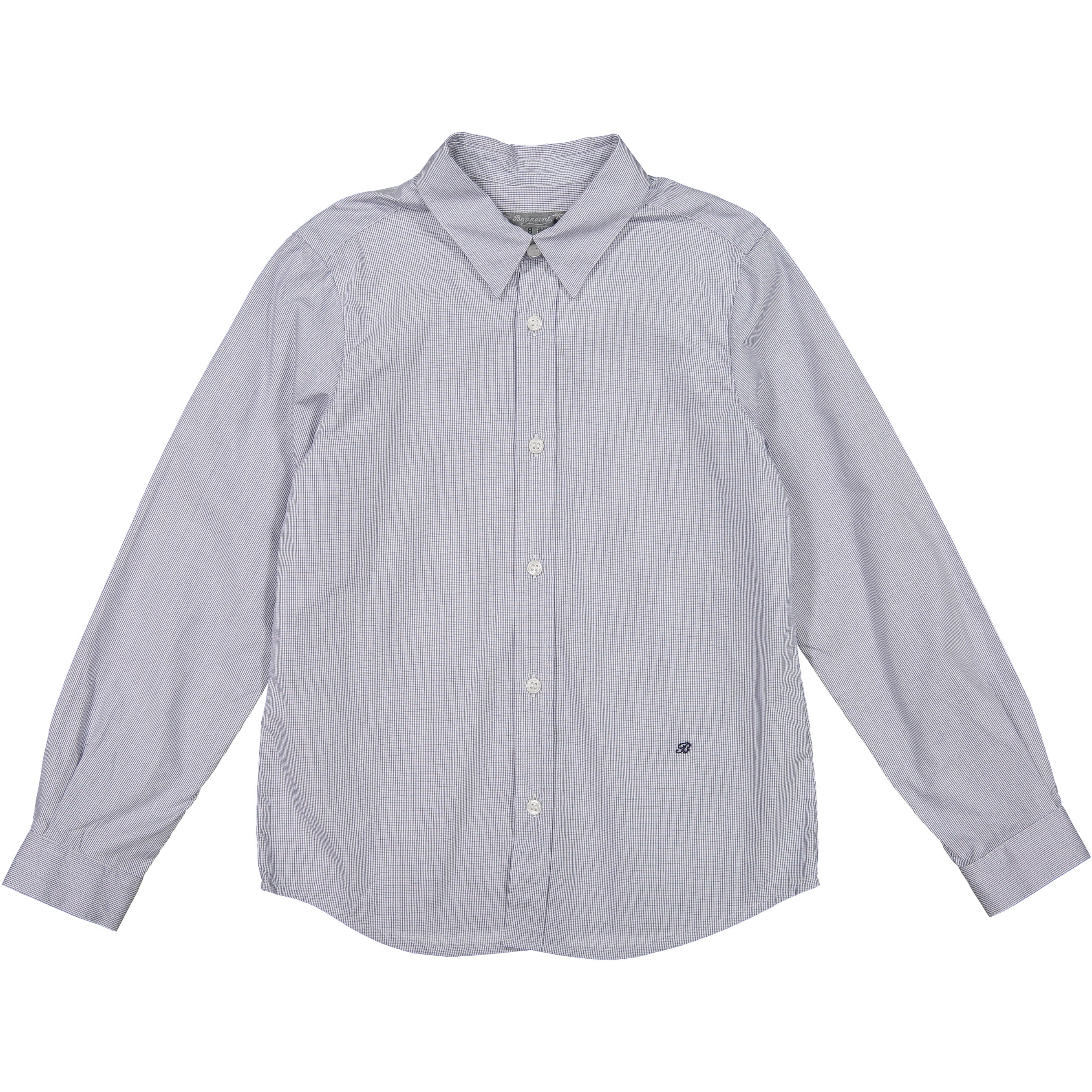 Bonpoint Navy Small Check Shirt - Ladida