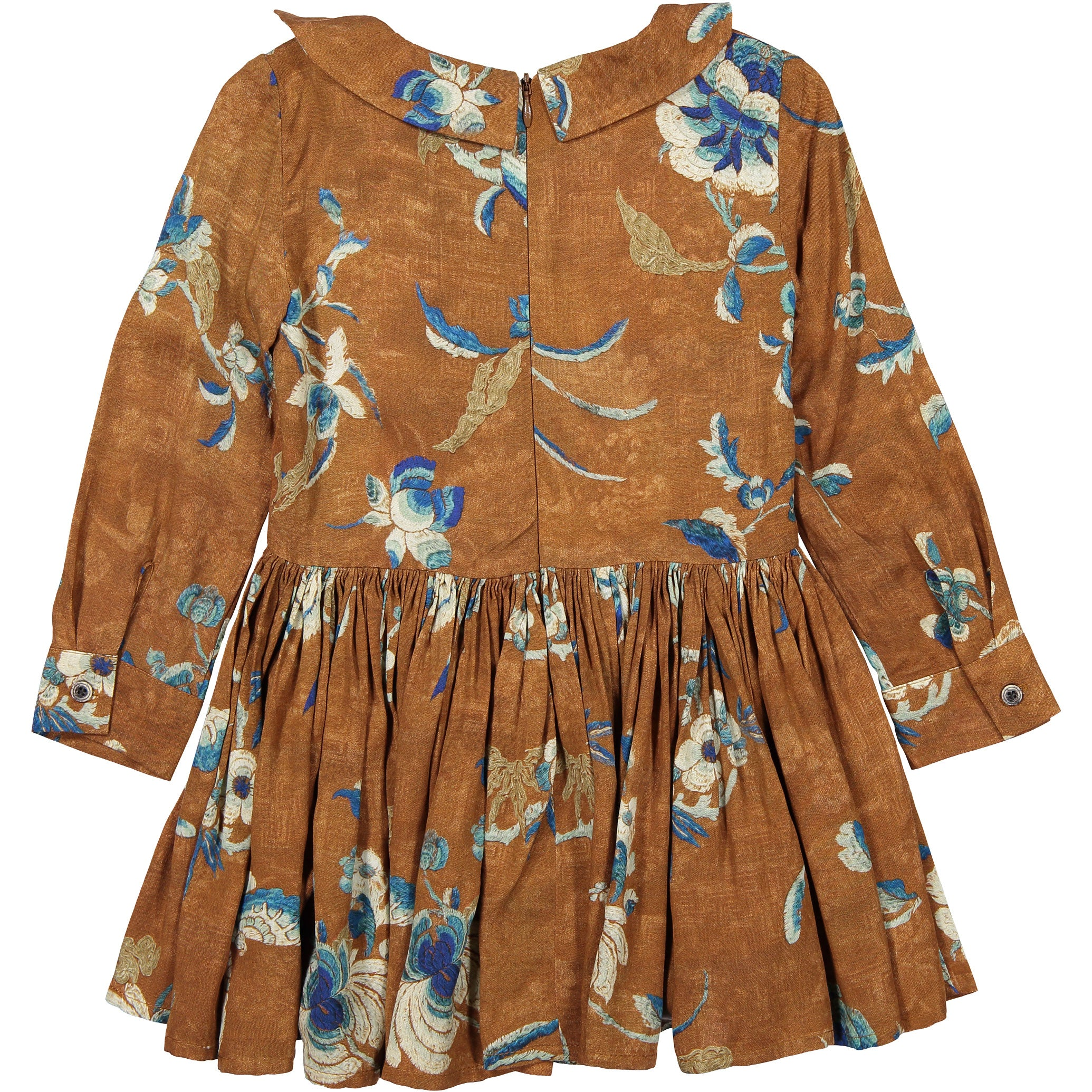 Morley Terracotta Floral Gisele Dress - Ladida