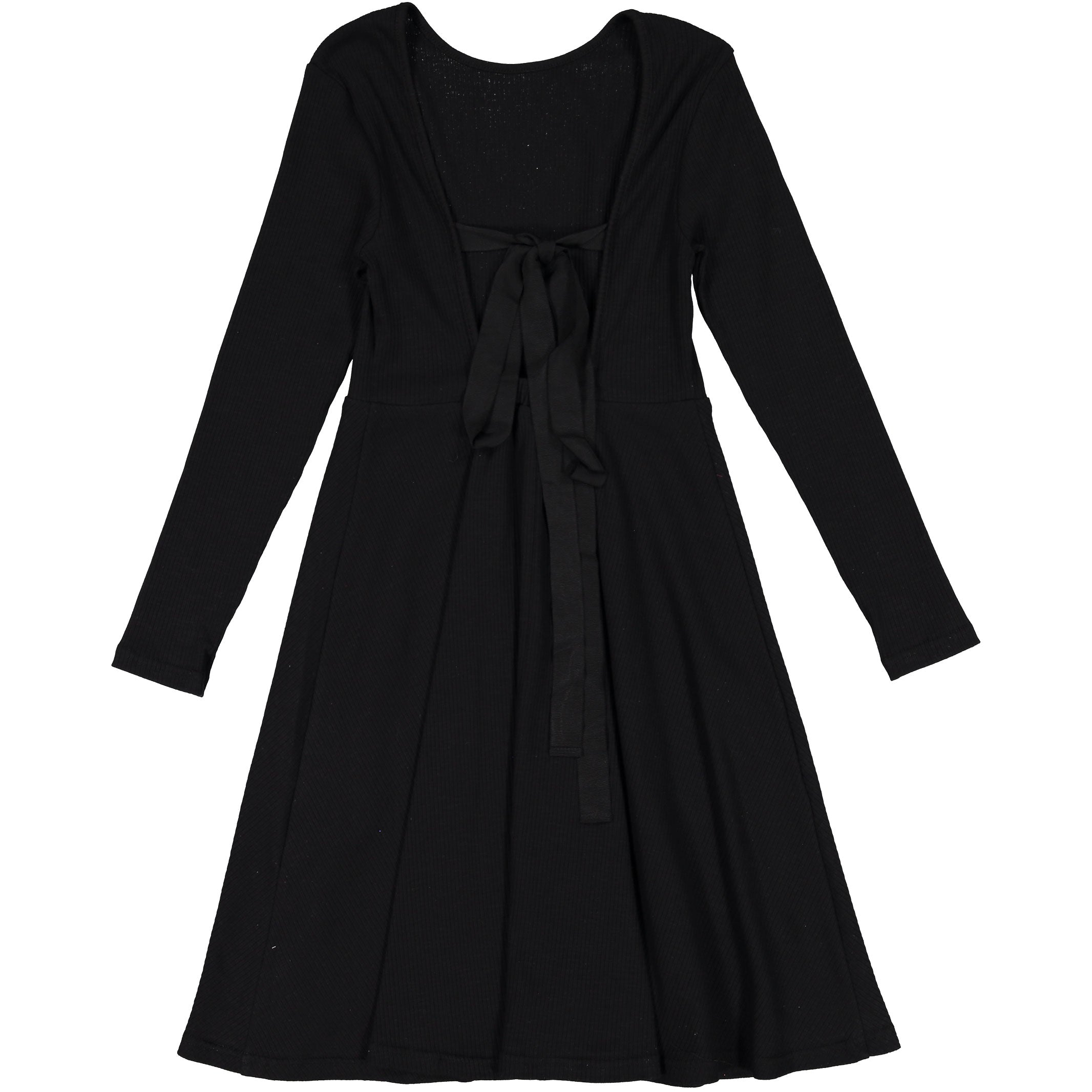 Ava & Lu Black Flair Dress - Ladida