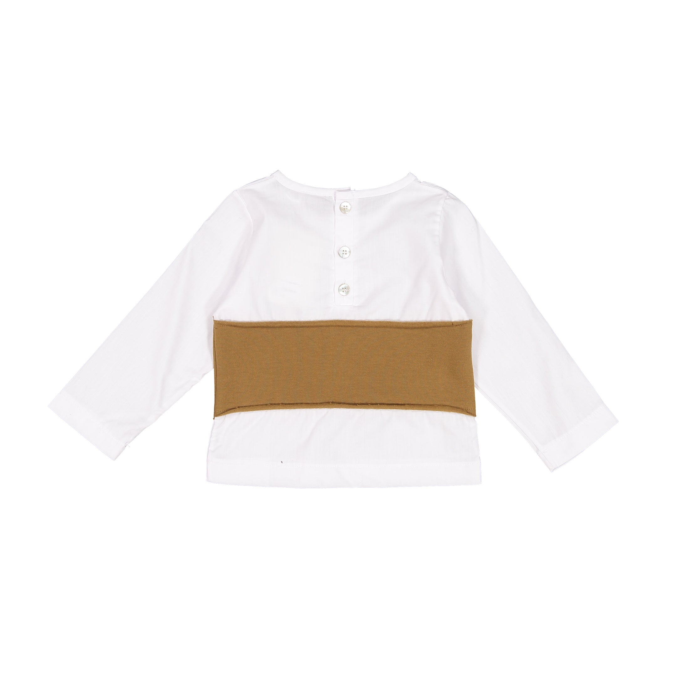 Minimu Milk/Rust Striped Shirt - Ladida