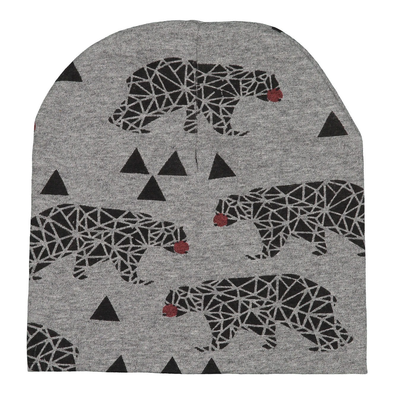 Firefly Light Grey Bear Beanie - Ladida