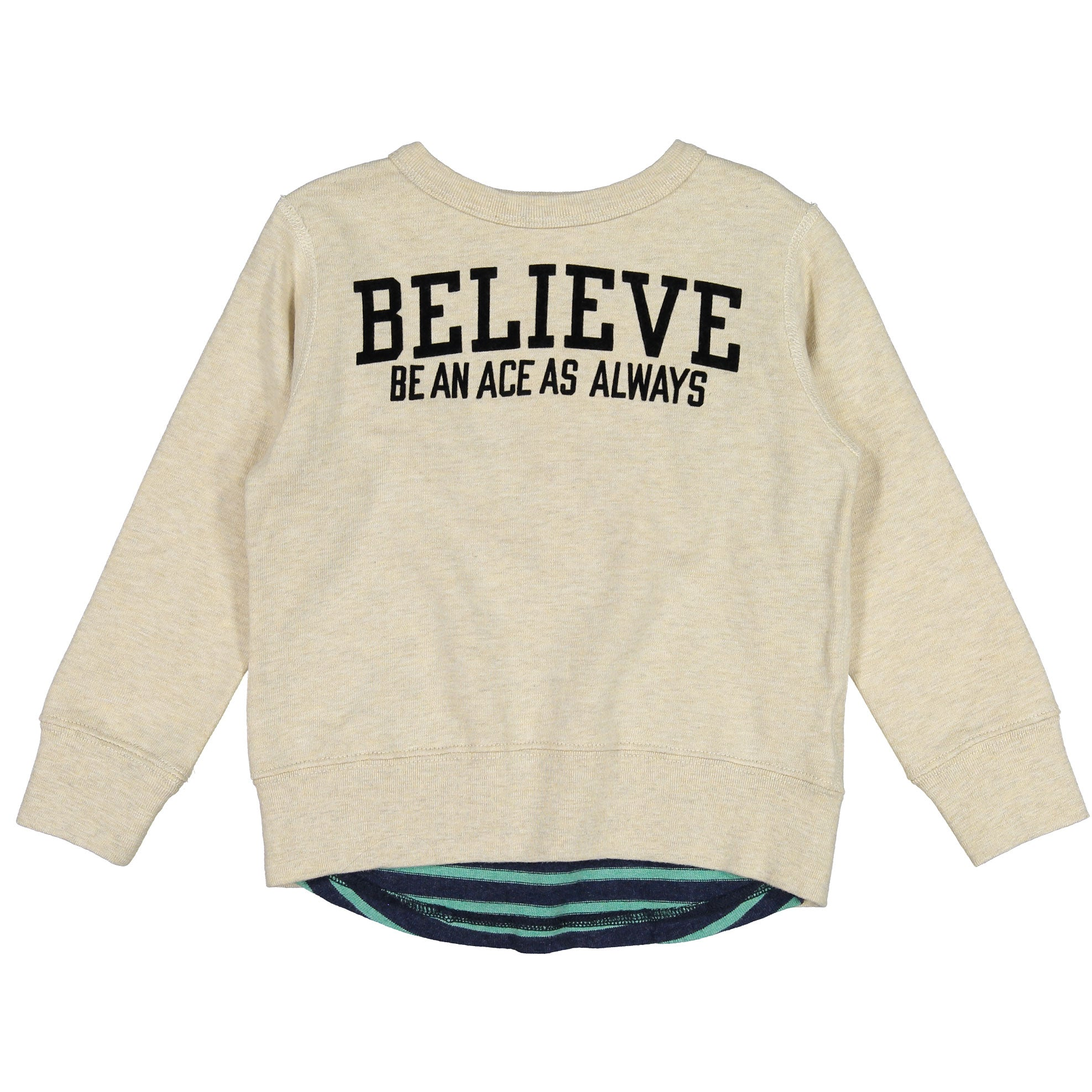DENIM DUNGAREE Oatmeal Believe Sweatshirt