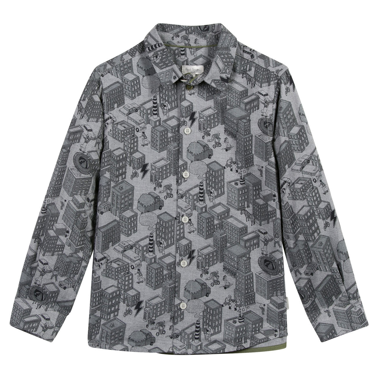 Paul Smith Junior Marl Grey City Shirt - Ladida