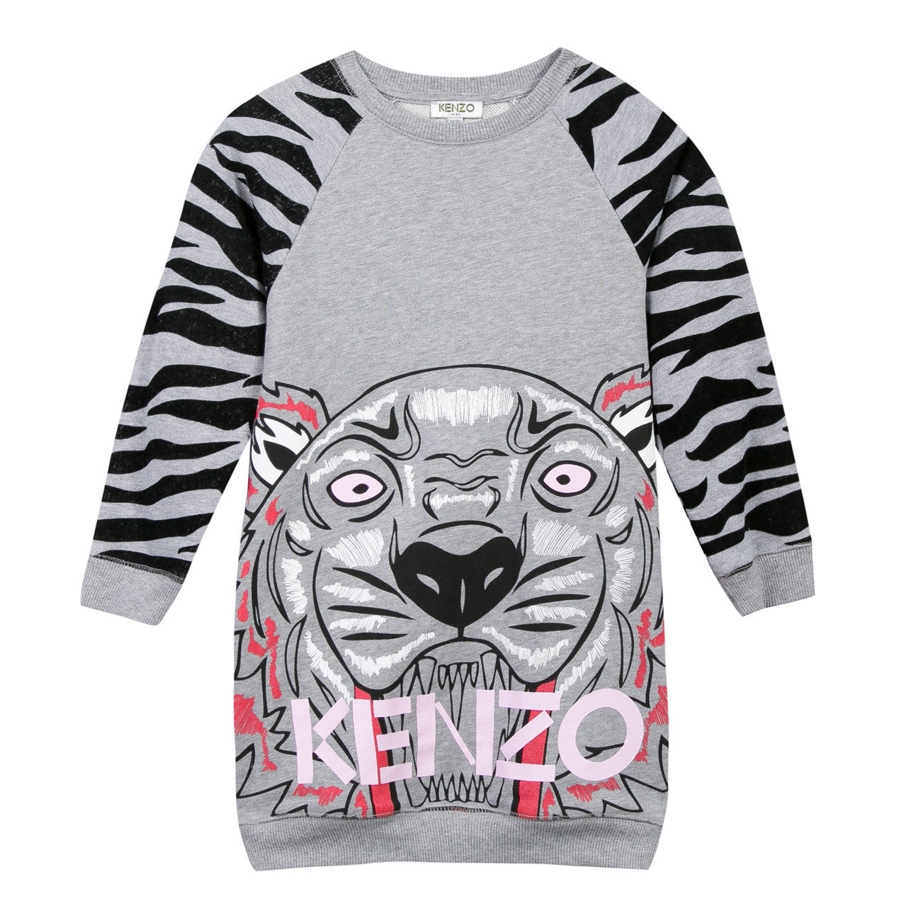 Kenzo Marled Grey Coline Tiger Dress - Ladida
