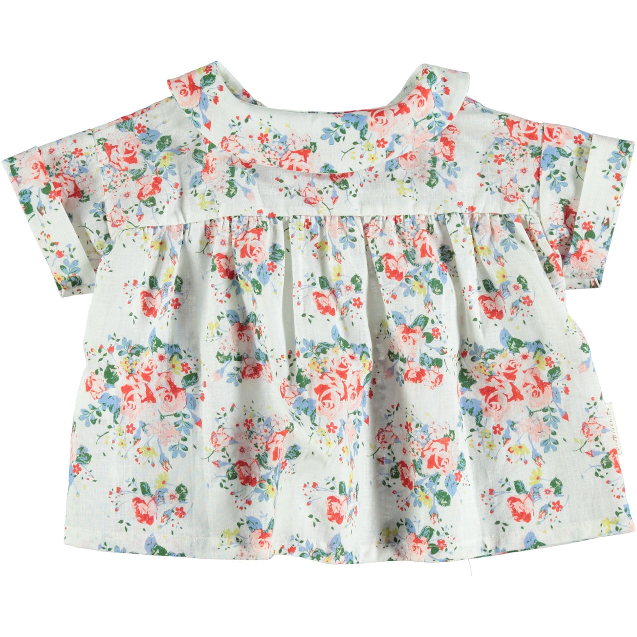 5a0b01aa6 Piupiuchick Flowers Peter Pan Collar Baby Blouse