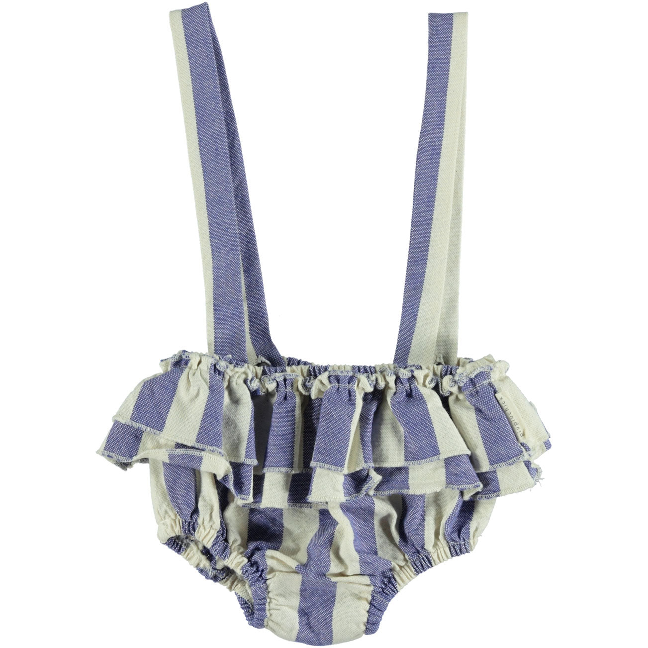 Piupiuchick Blue Stripes Shorties with Straps