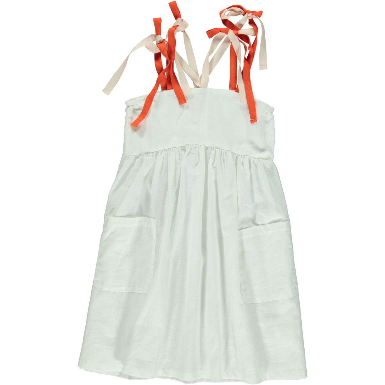 Piupiuchick White Colorful Straps Long Dress