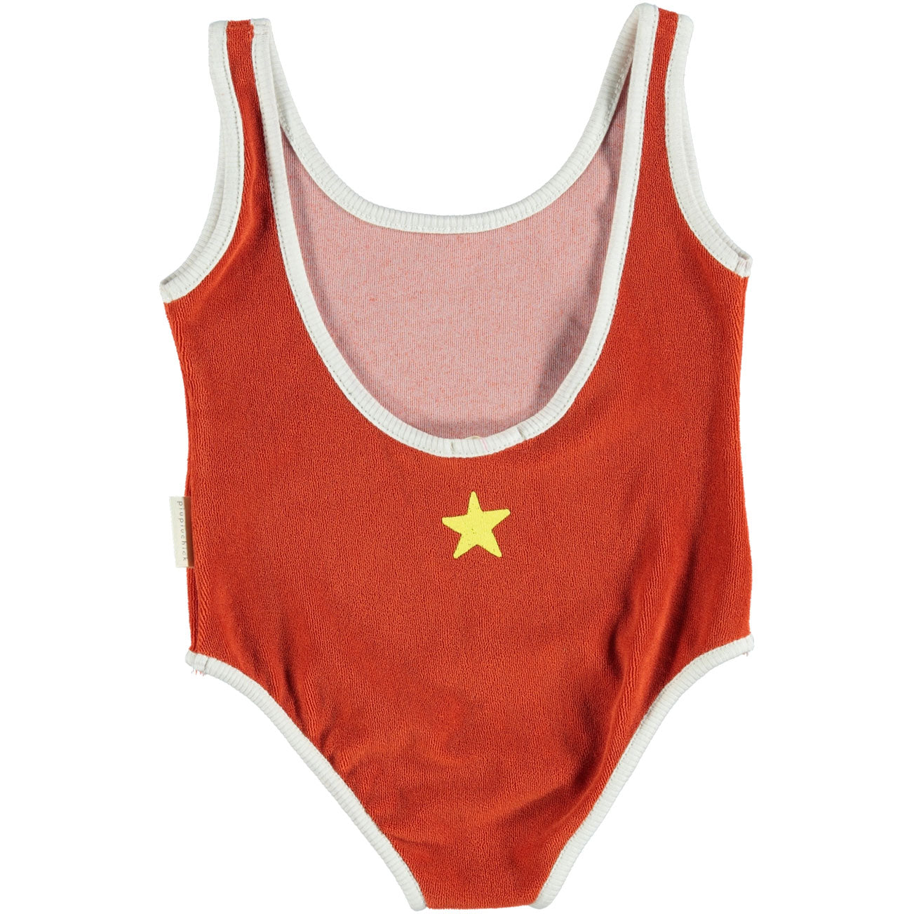 Piupiuchick Red with Yellow Ball Print Terry Swimsuit
