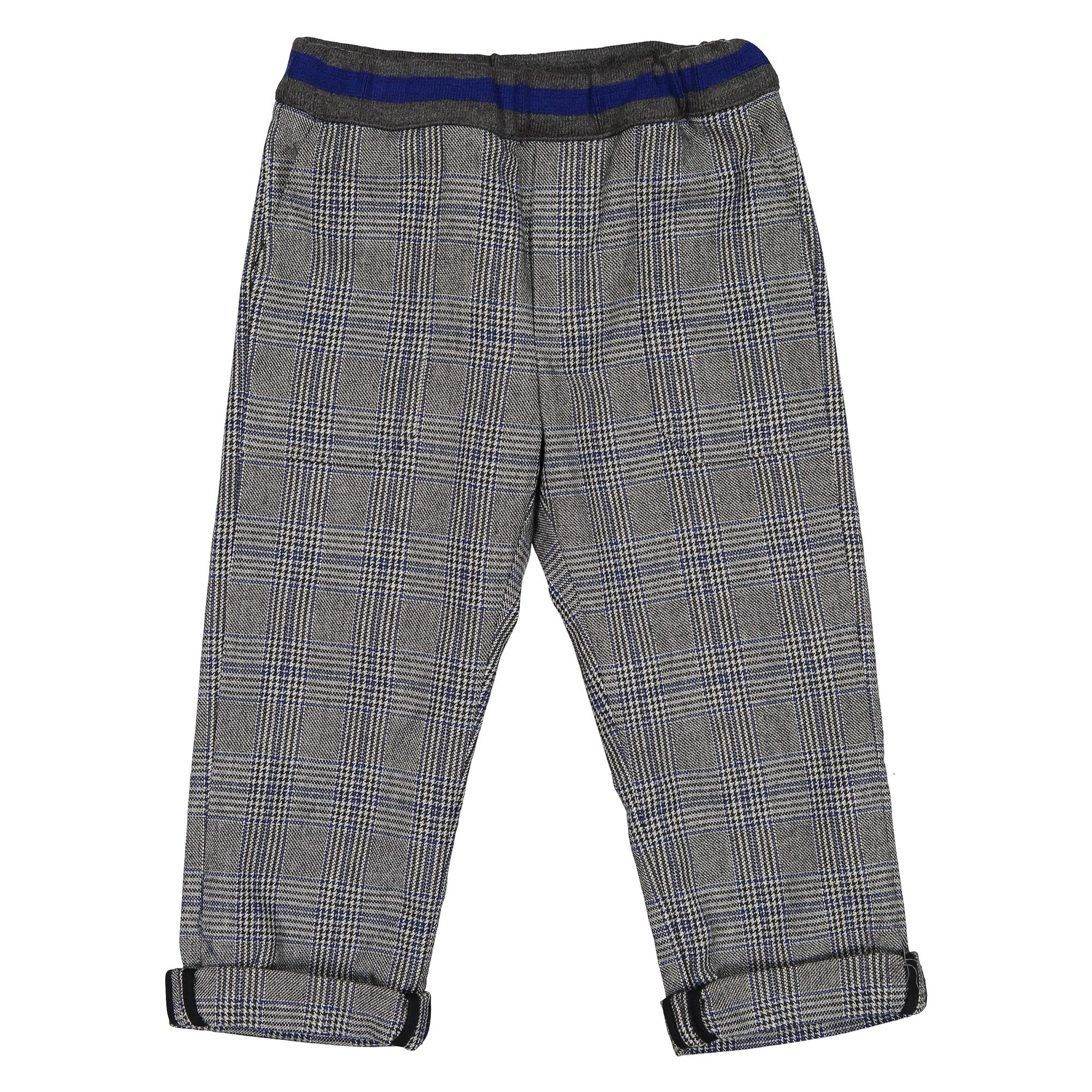 Bonpoint Grey Plaid Baggy Trousers