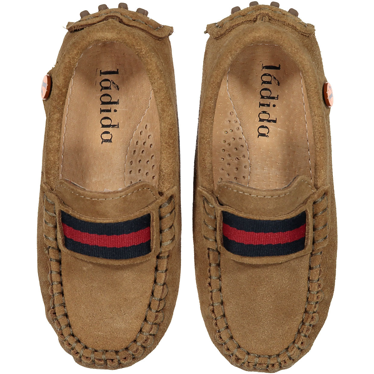 LADIDA 10 Tan Suede Anniversary Loafers