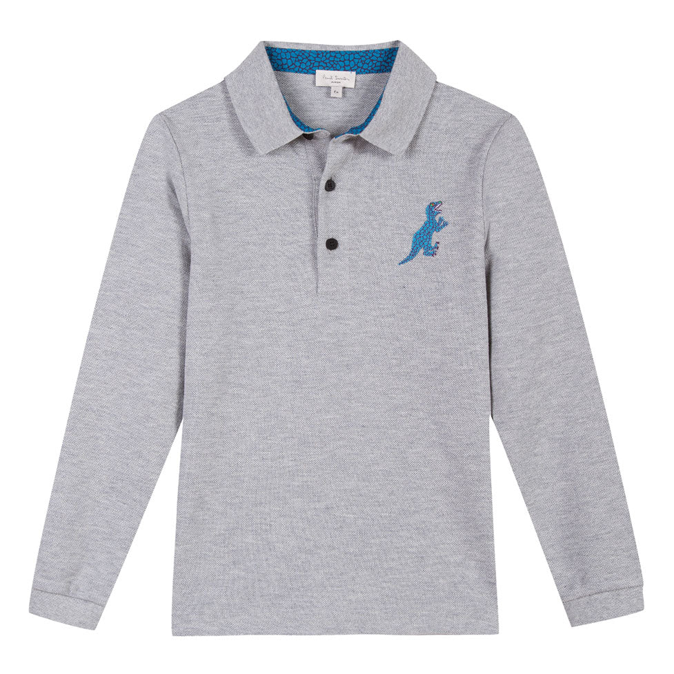 33860edd7 Paul Smith Junior Grey Big Dino Logo Polo