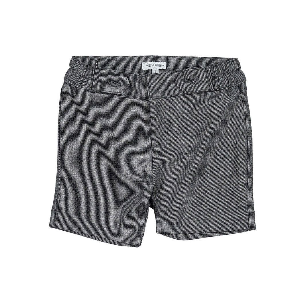Boys and Arrows Grey Tweed Suspender Shorts
