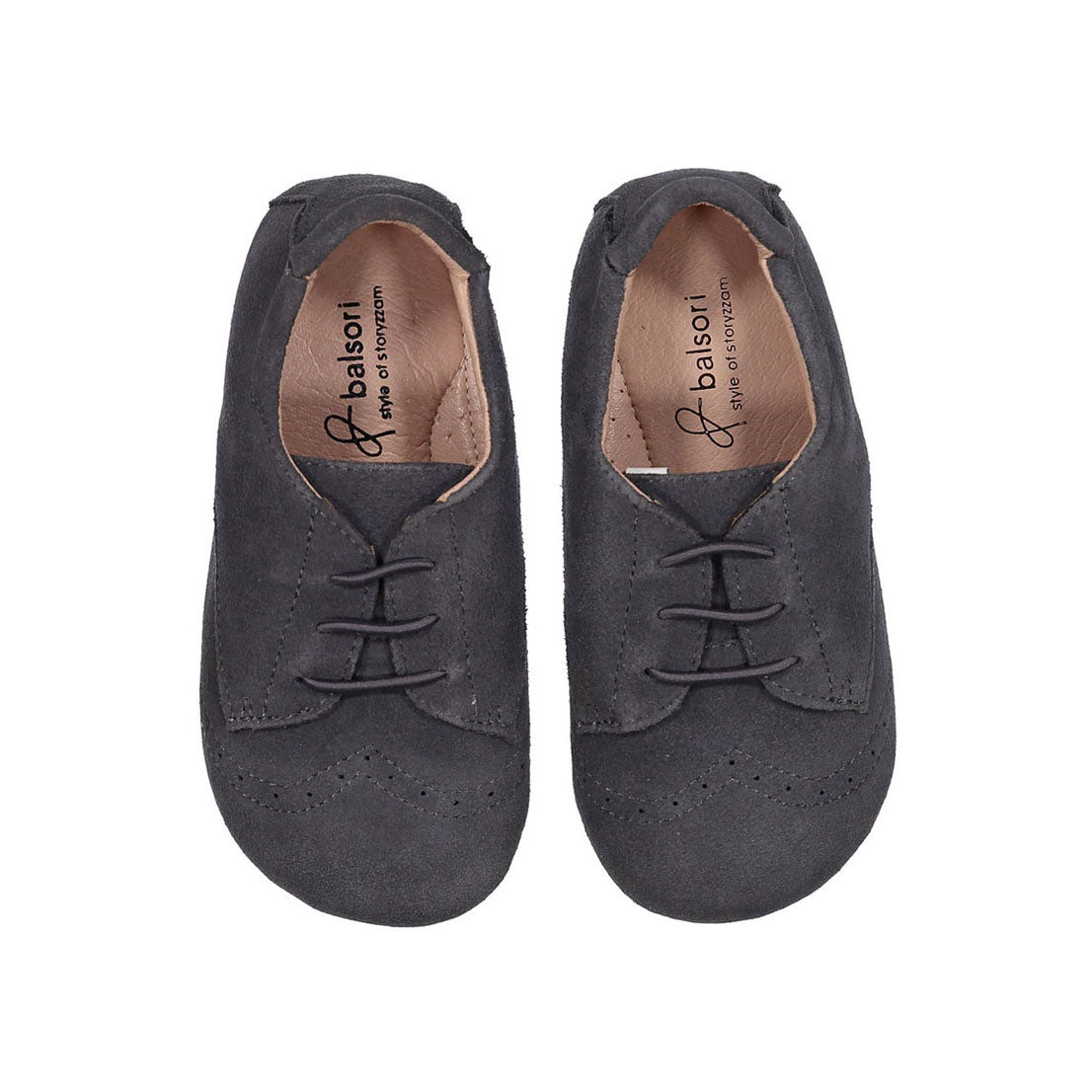 Babyzzam Grey Suede Oxfords