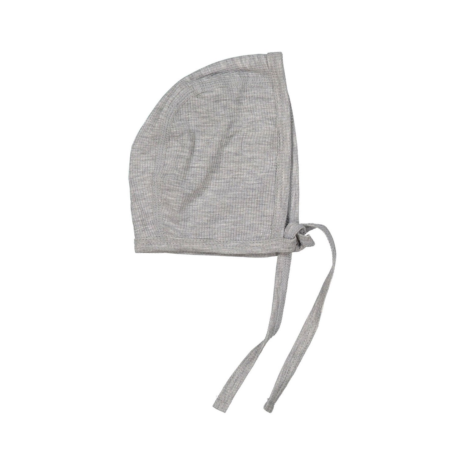 LADIDA Grey Melange Ribbed Logo Bonnet