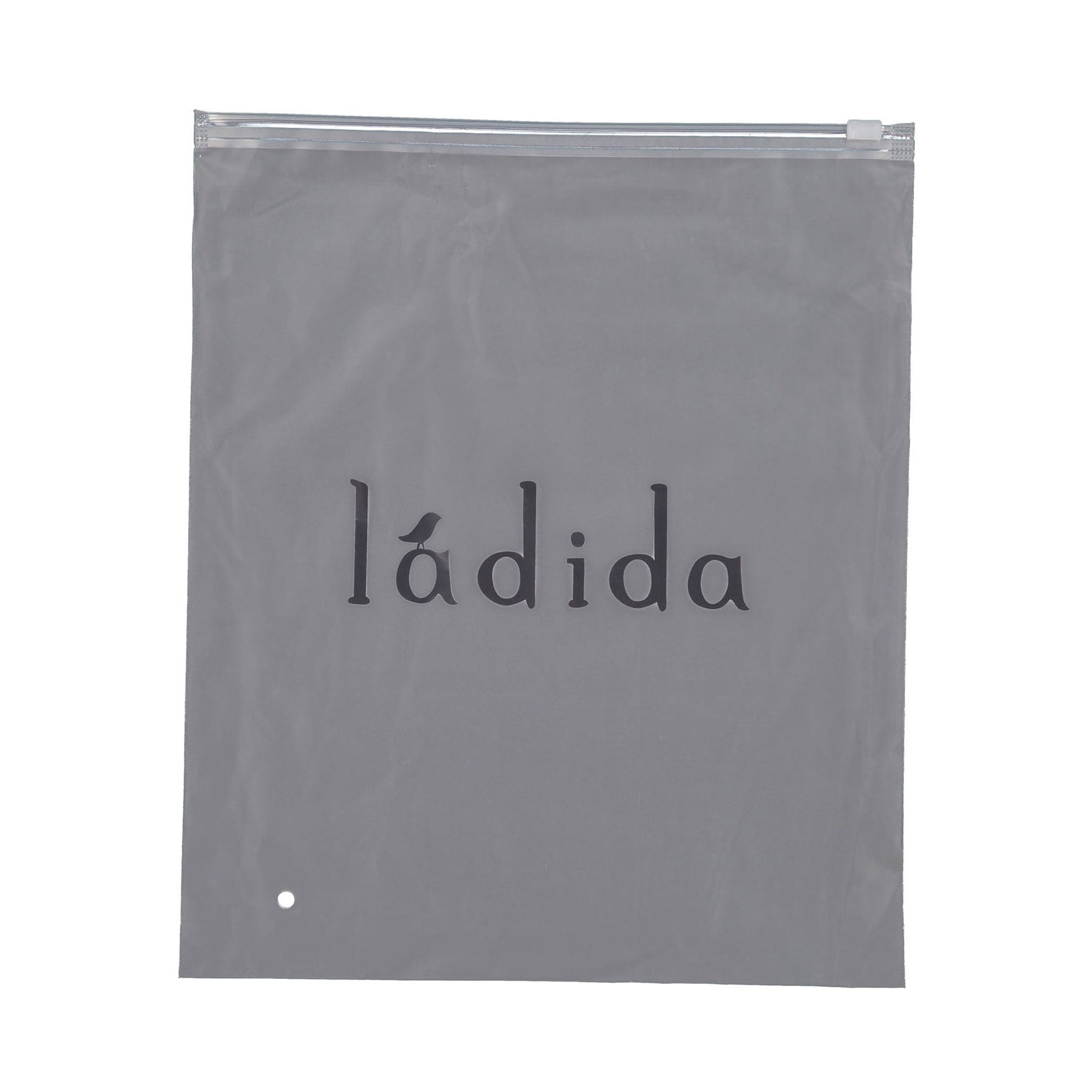 LADIDA Black Ribbed Logo Blanket