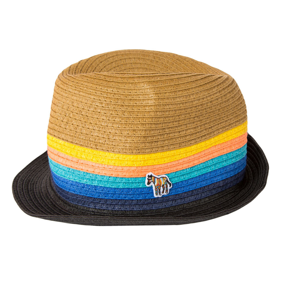 80fecd08c3d48 Paul Smith Junior Straw Multicolor Fedora