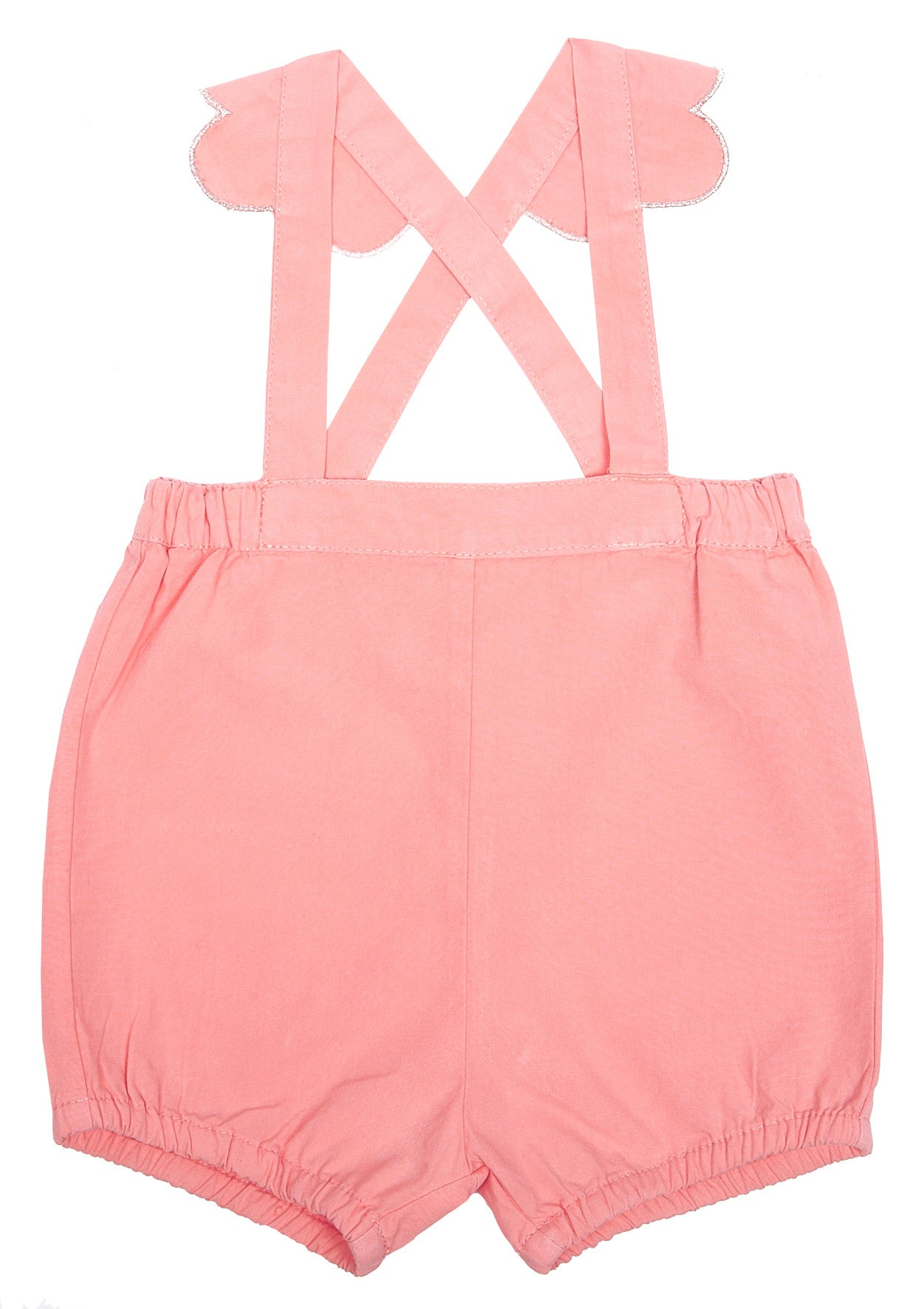 Emile Pink Scalloped Romper - Ladida