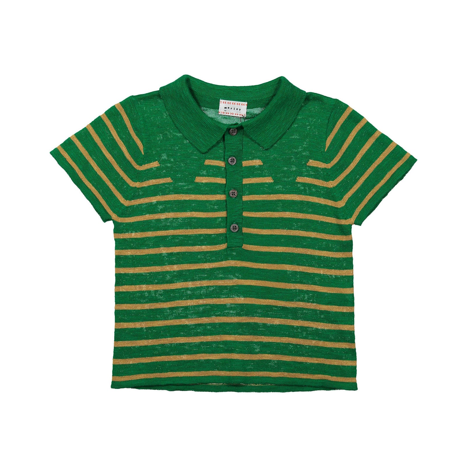 Morley Palm Stripe Lucius Knit Polo