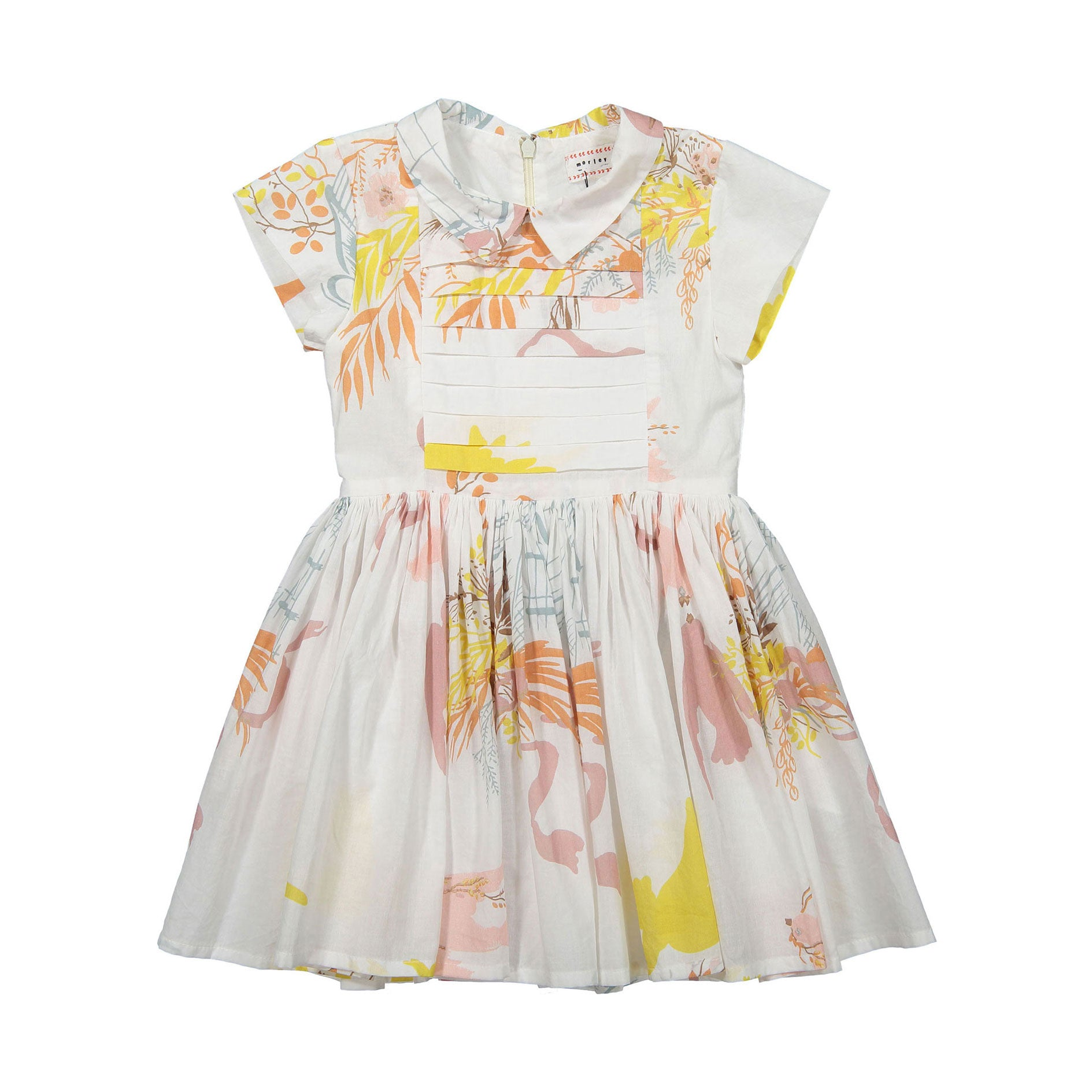 Morley White Bird Print Lemia Dress