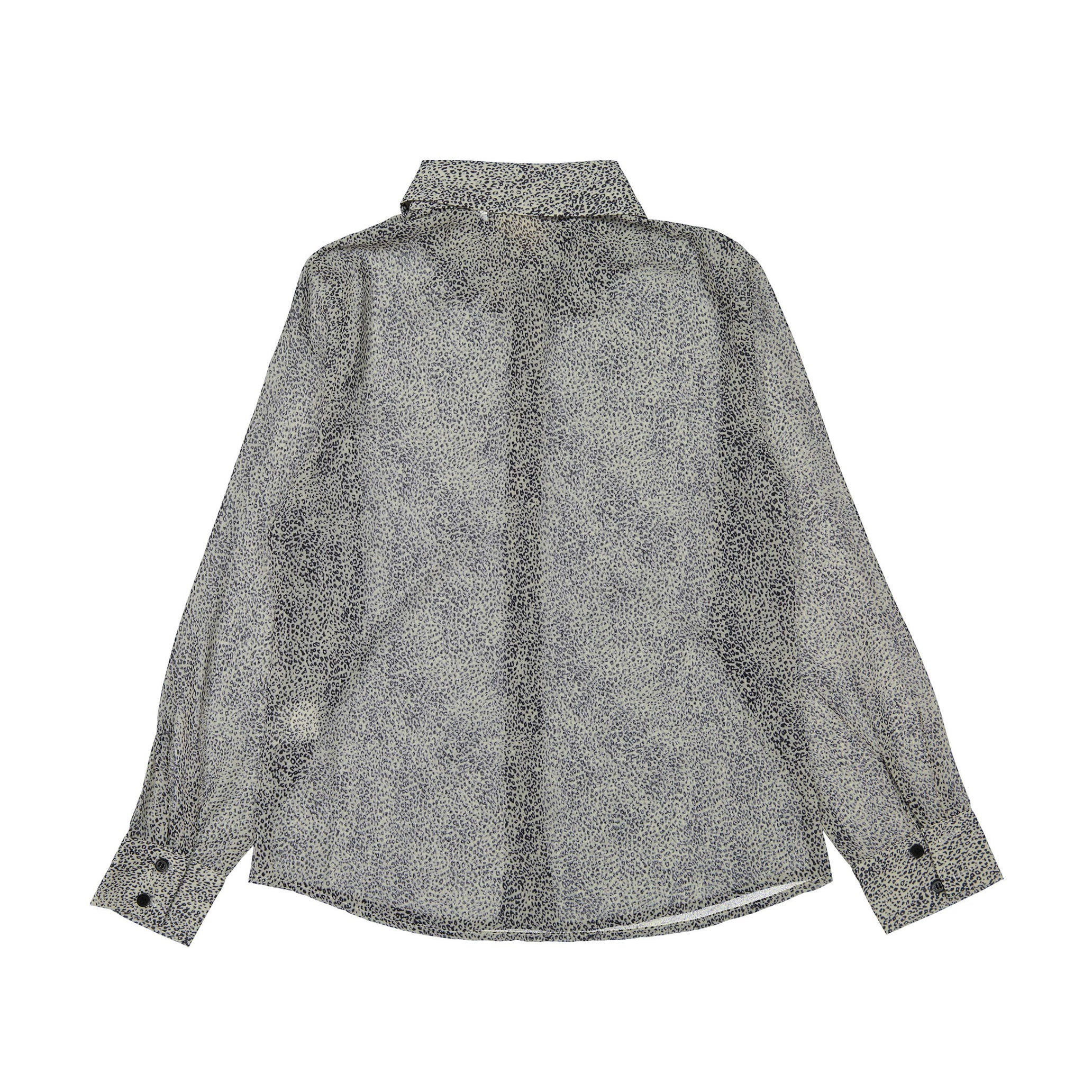 A4 Grey Leopard Blouse