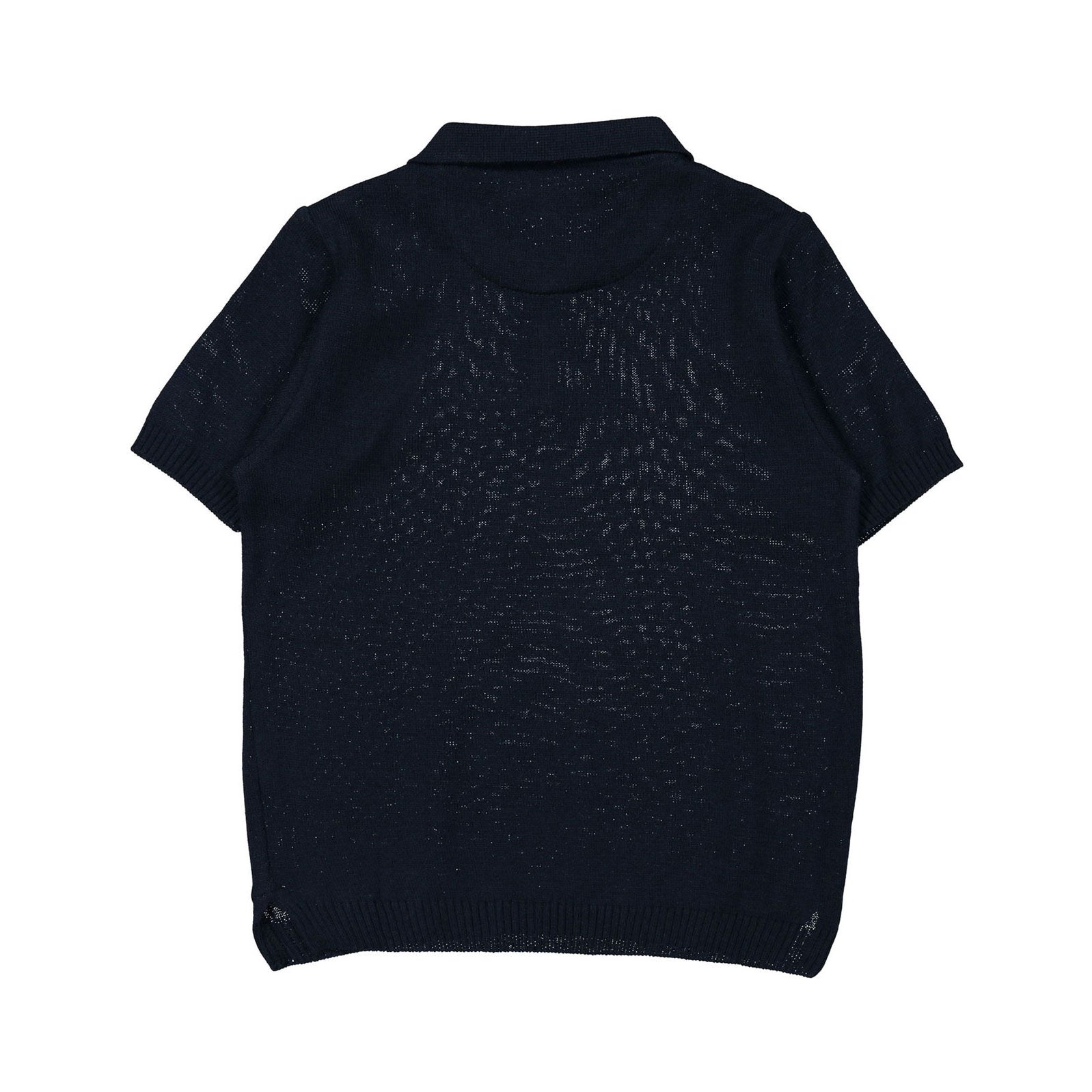 Nupkeet Navy Knit Polo