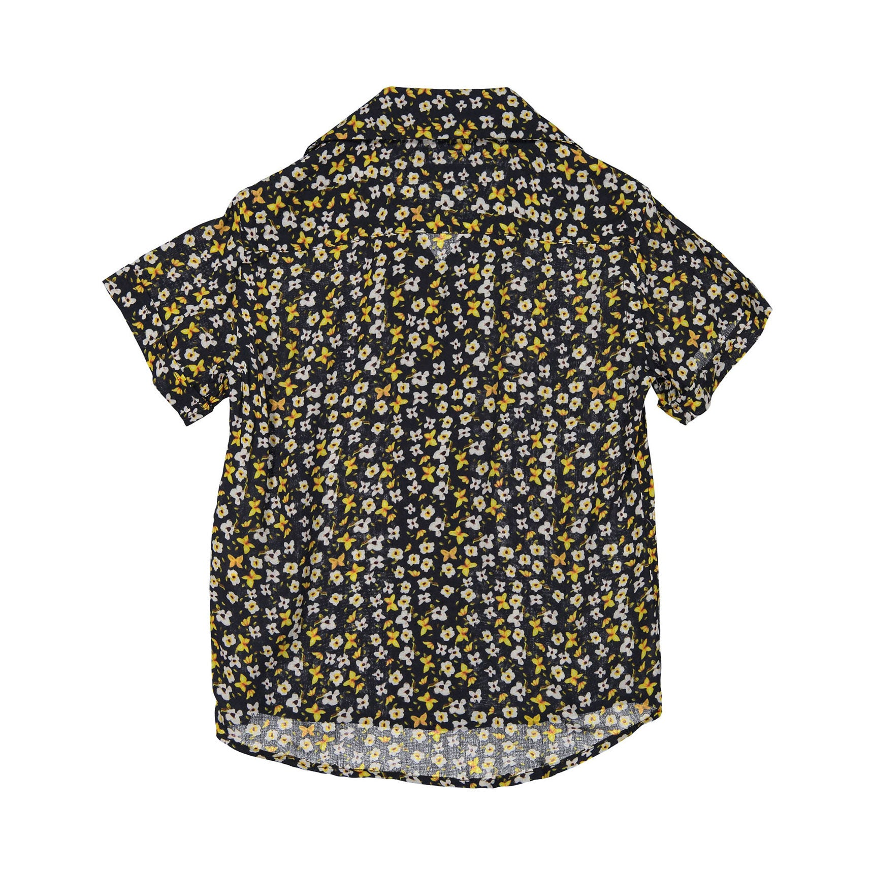 Nupkeet Navy Floral Short Sleeve Shirt