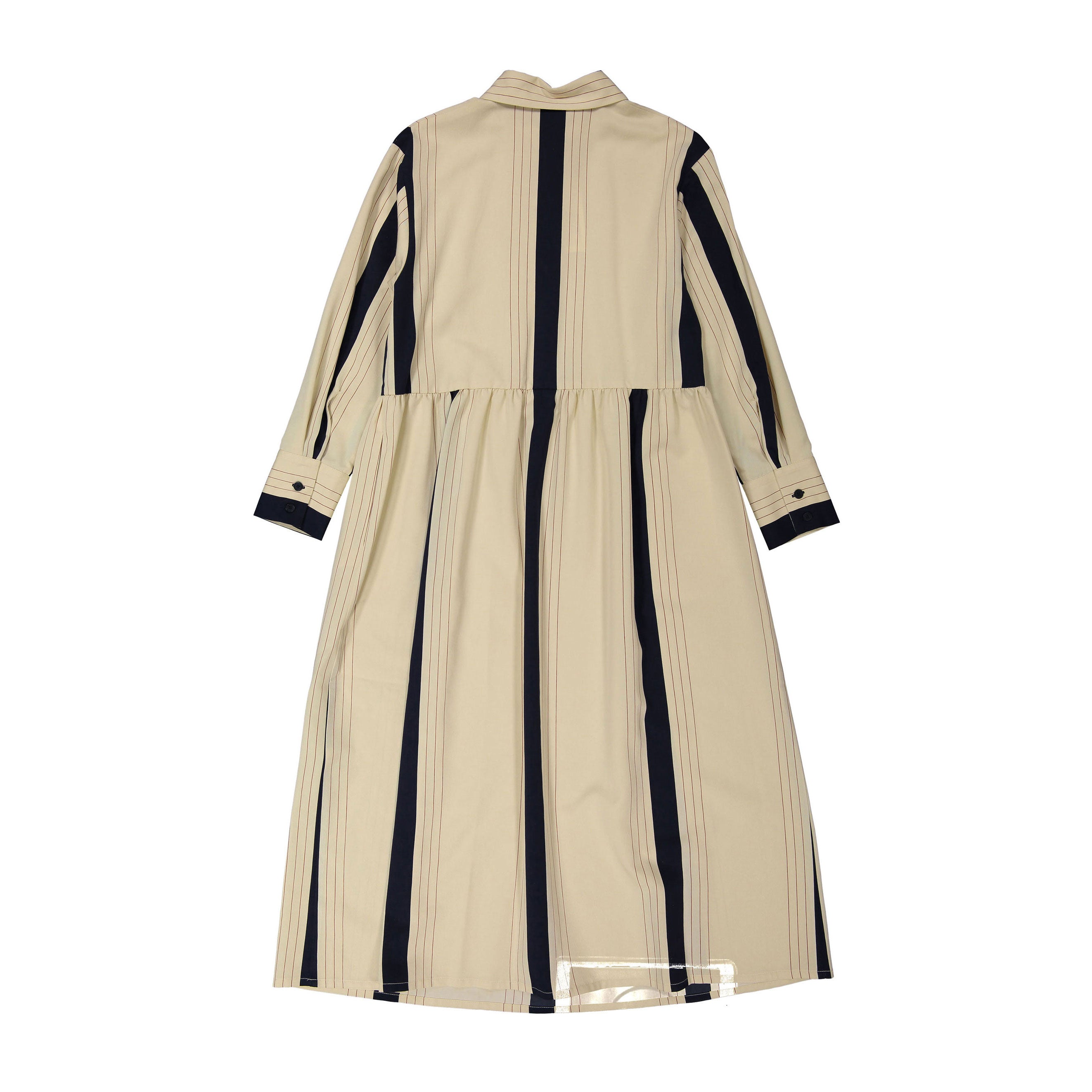 Max and Lola Beige Colorblock Stripe Diswing Dress