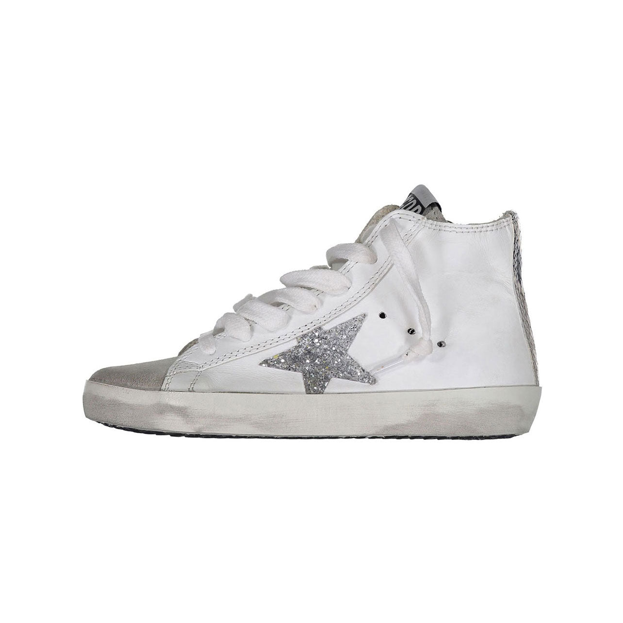 Golden Goose White Leather - Silver