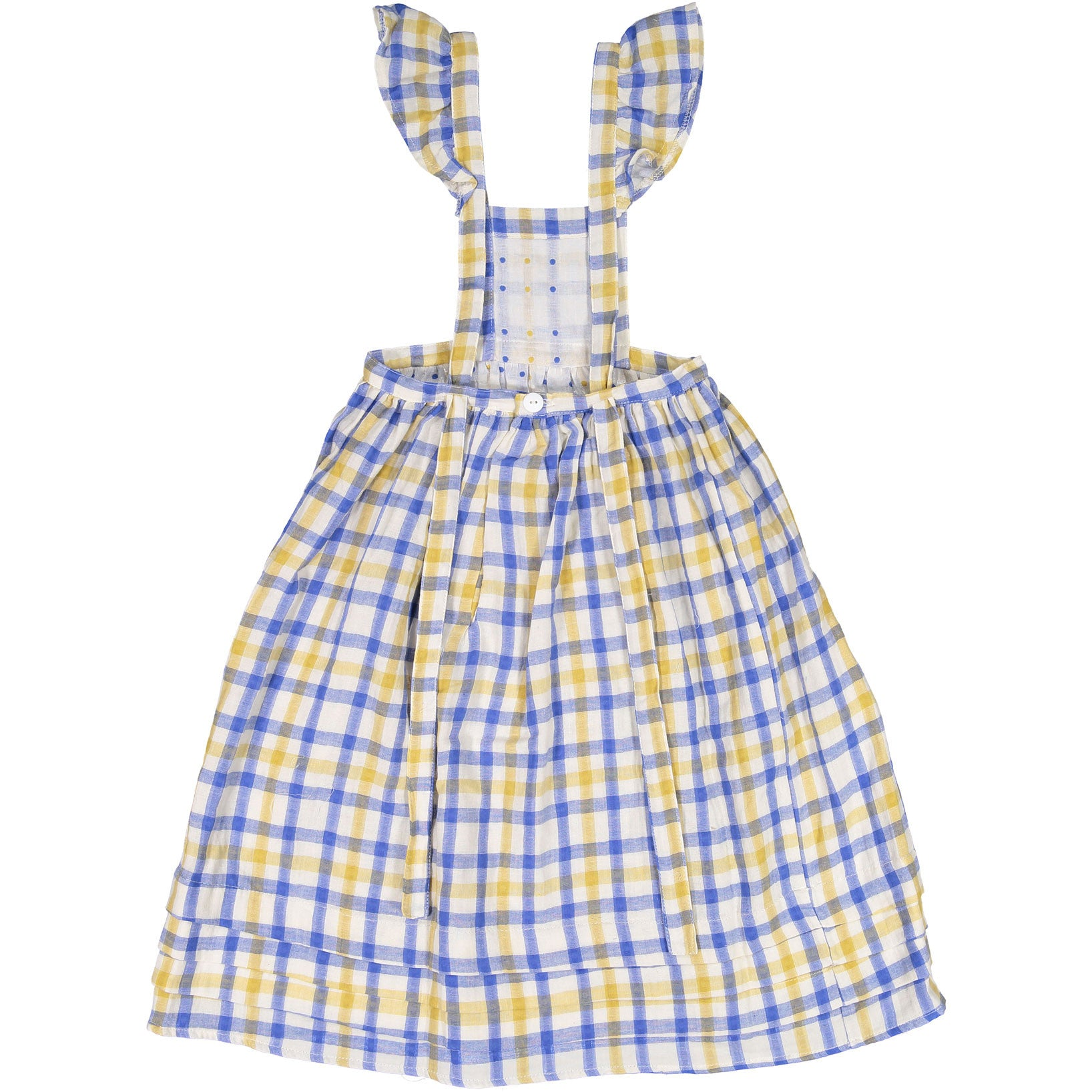 Atelier Barn Yellow Check Apron Dress