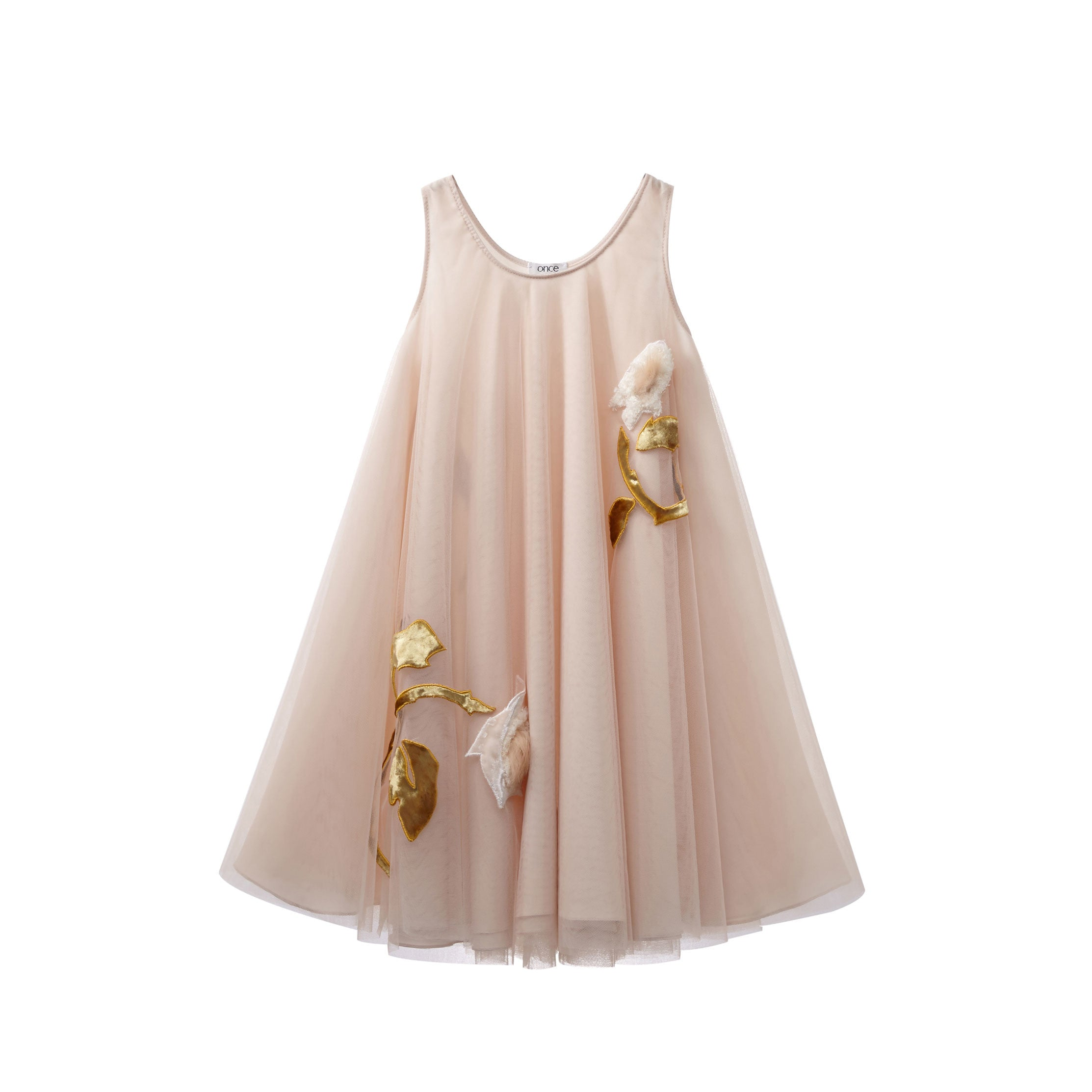 Once Peach Tulle Swing Dress