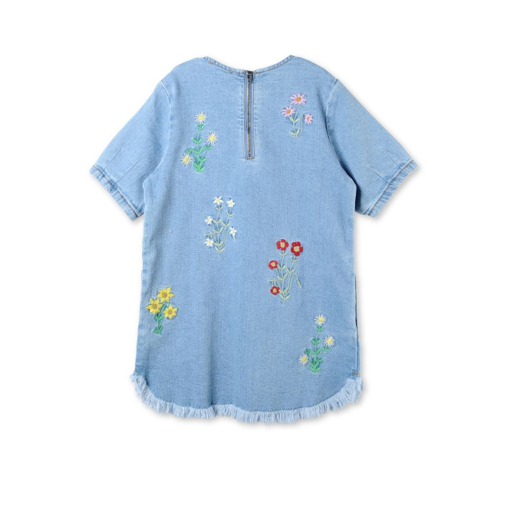 Stella Denim Embroidered Shift - Ladida