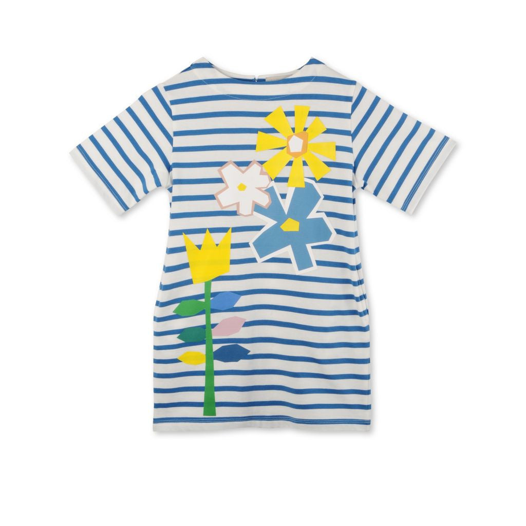 Stella Blue Striped Flower Dre - Ladida
