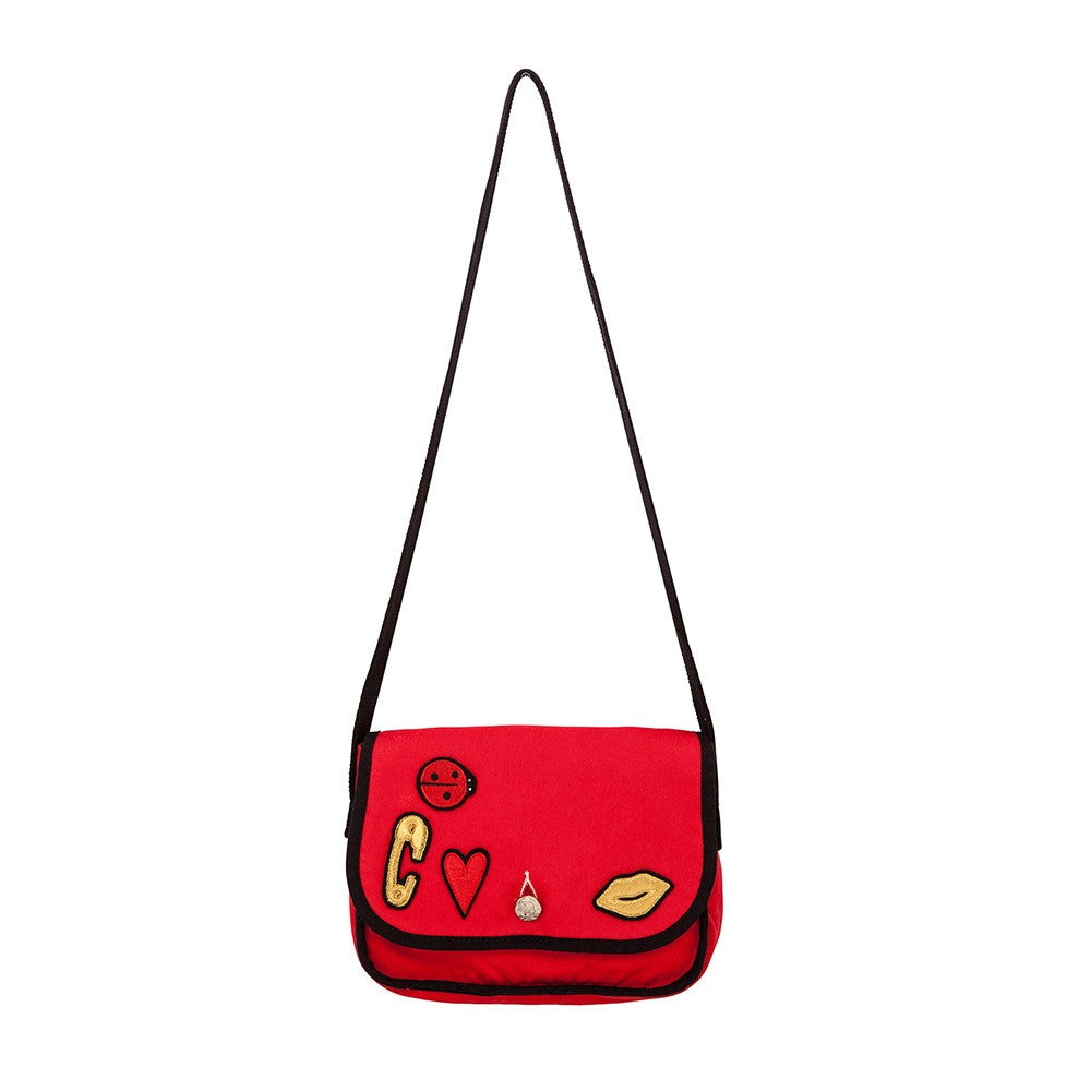 Sonia Red Patches Bag - Ladida