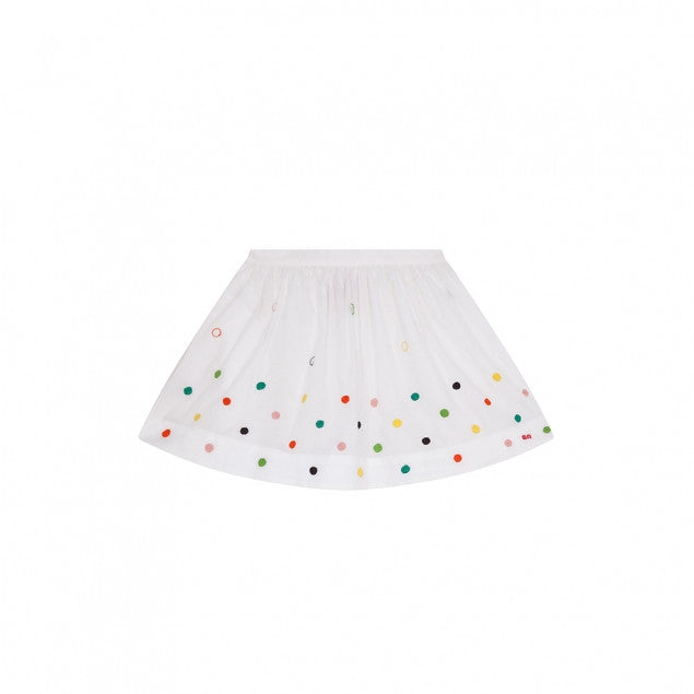 Sonia Embroidered Dot Skirt - Ladida