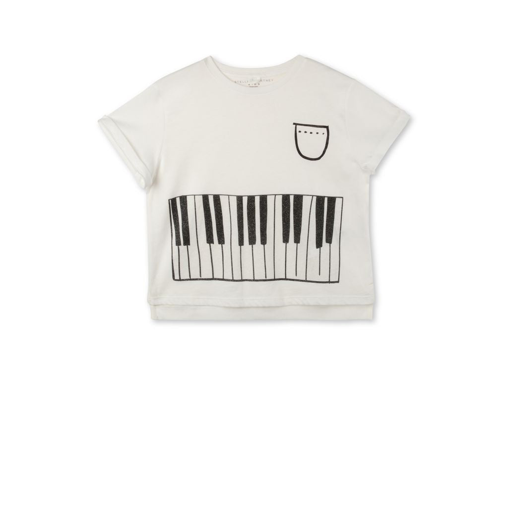 Stella White Piano Tee - Ladida