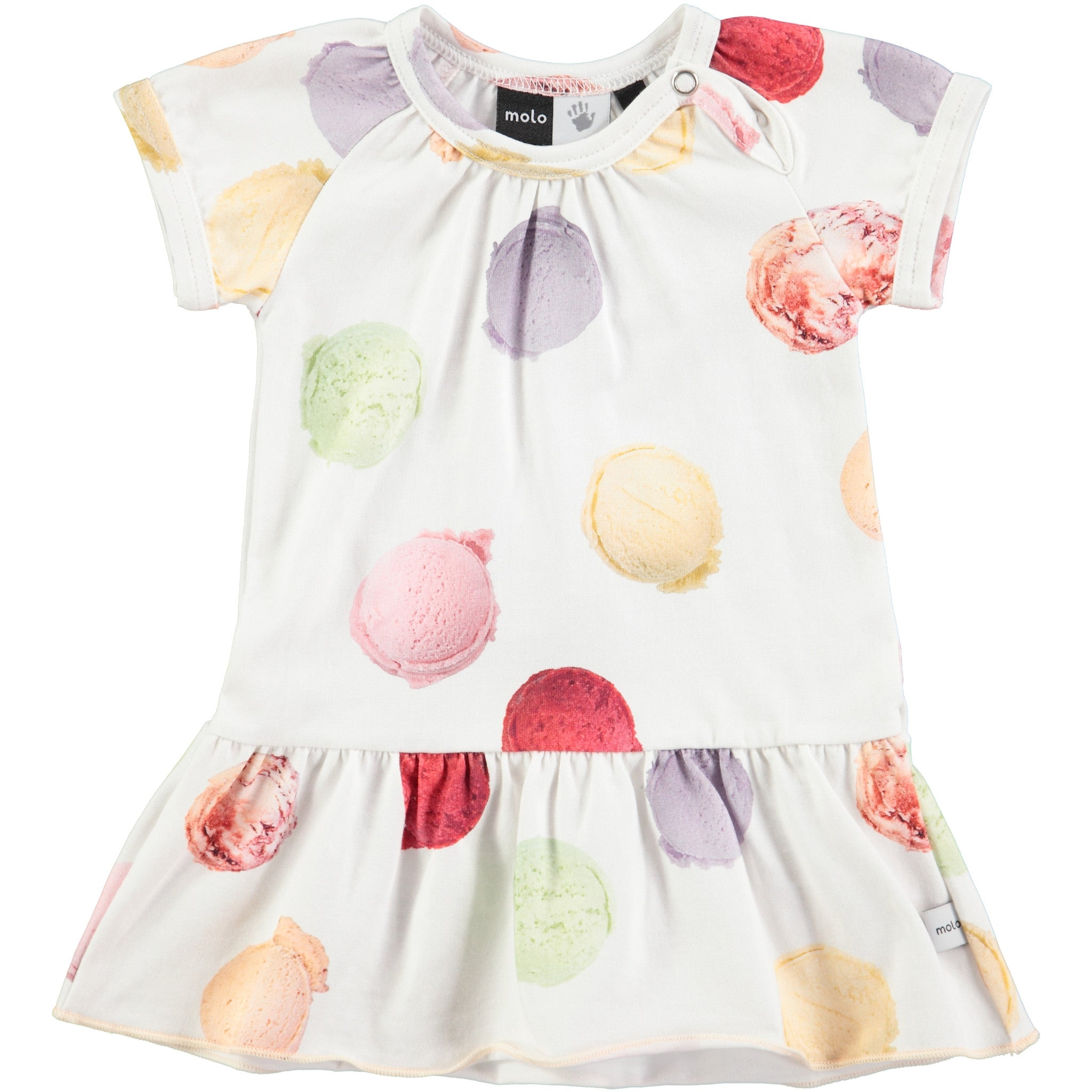Molo White Scoops Baby Dress - Ladida