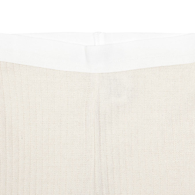 Bene Bene Cream Ribbed Knit Leggings - Ladida