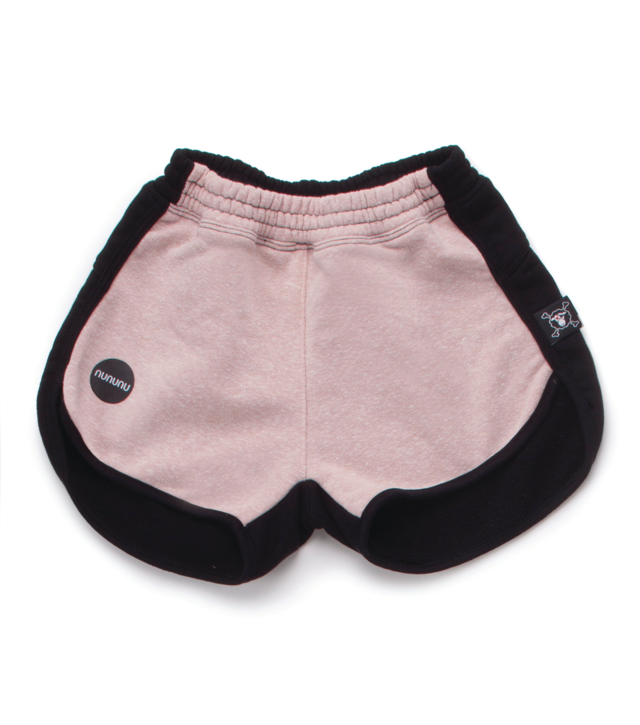 NUNUNU Black/Pink Gym Shorts - Ladida