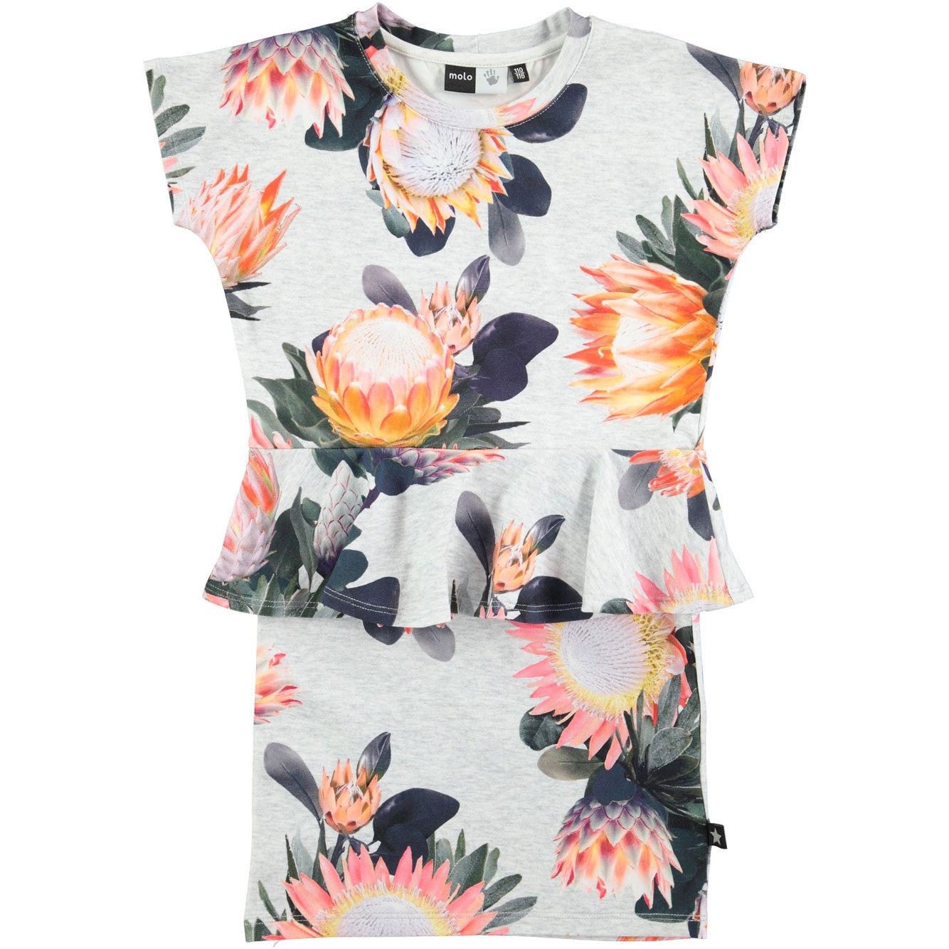 Molo  Sugar Flowers Peplum Dress - Ladida