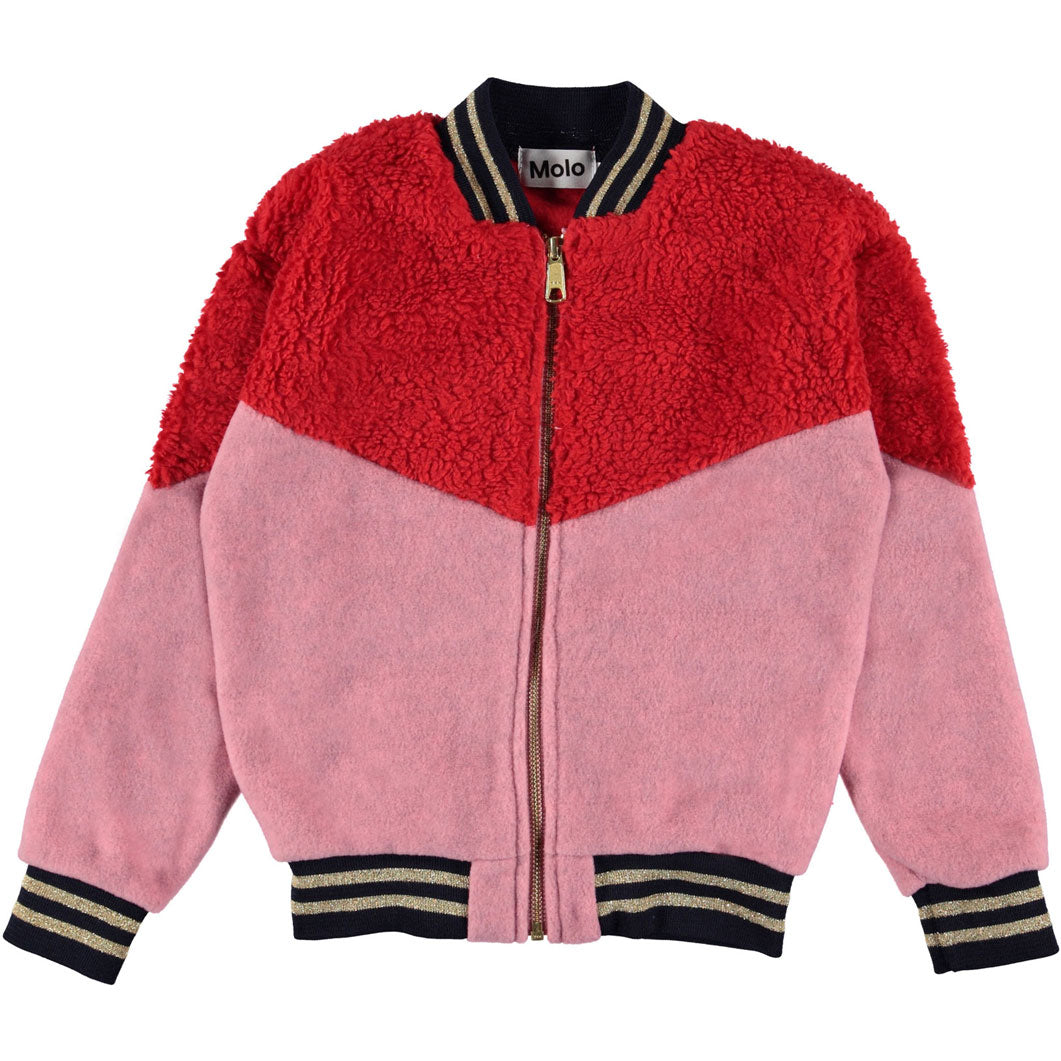 Molo Fiery Red Fleece Una Jacket