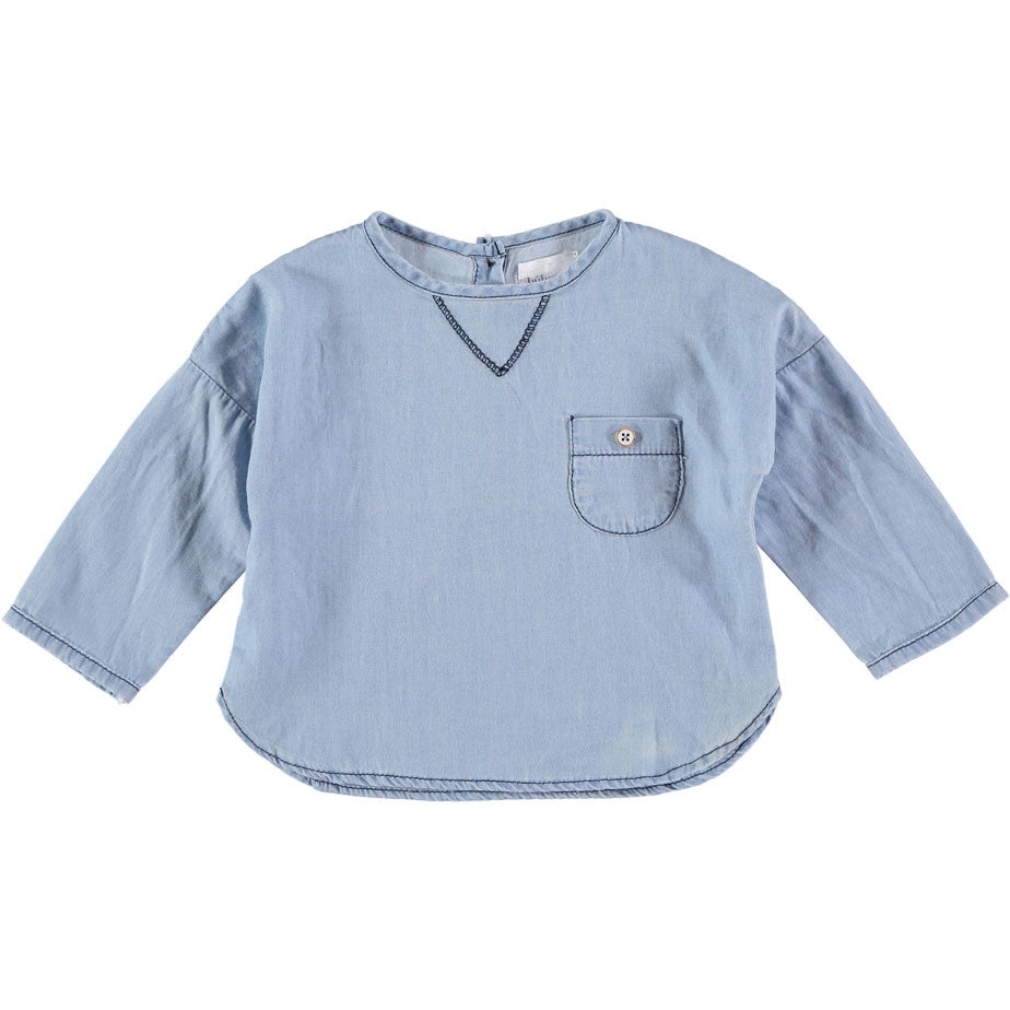 Buho Teo Denim Baby Shirt - Ladida