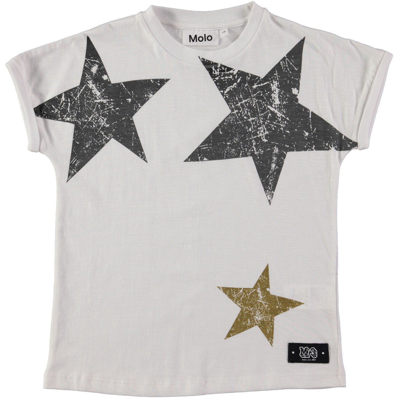 Molo  Bright White Star Tee - Ladida