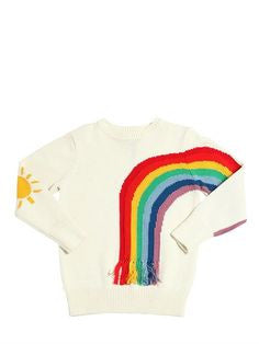 Stella Fringed Rainbow Sweater - Ladida