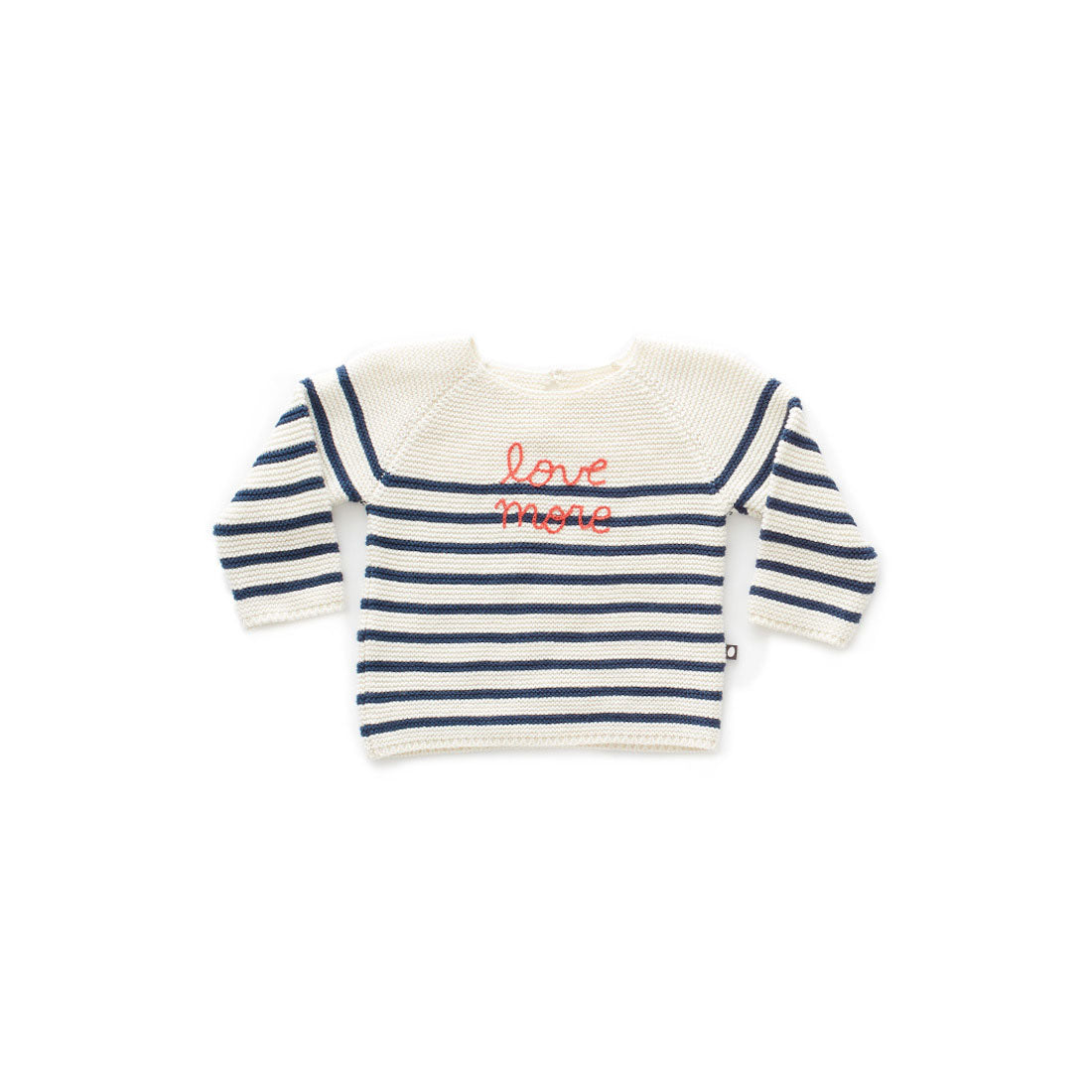4f7a4bf42 Oeuf White Navy Striped Sweater