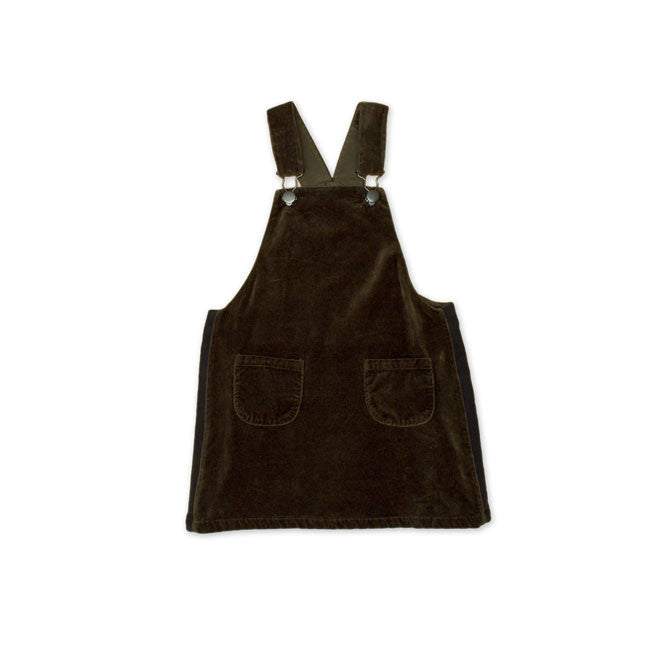 Noe & Zoe Khaki Dungaree Dress - Ladida