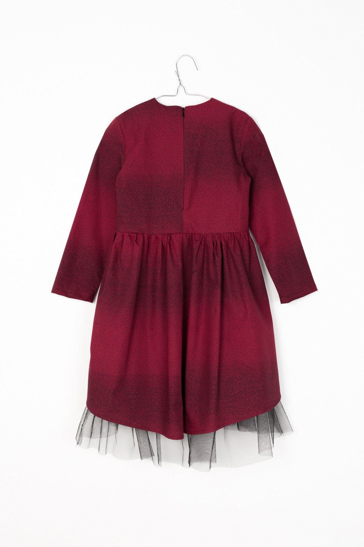 Motoreta Burgundy Dot Thea Dress - Ladida