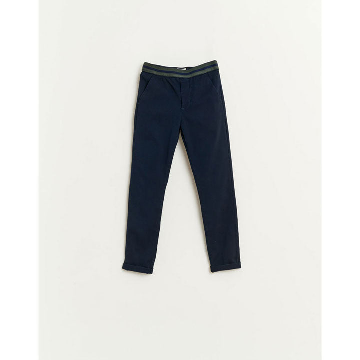 Bellerose Navy Paori Fitted Dress Pants