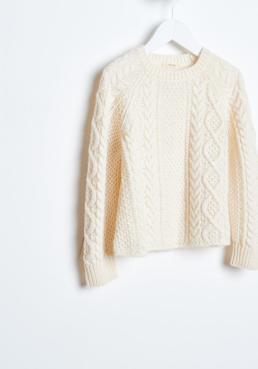 Bellerose Ivory Cable Knit Sweater - Ladida