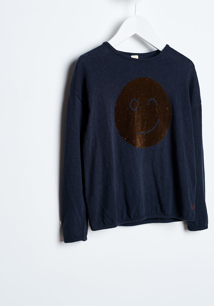 Bellerose Navy Smiley Tee - Ladida