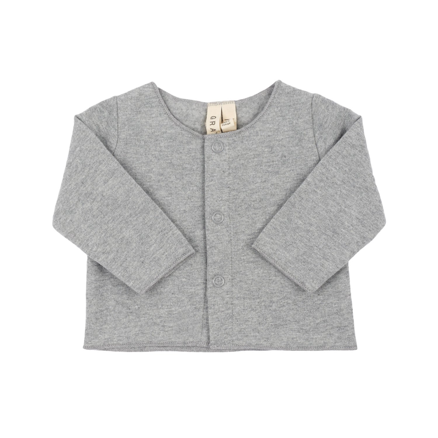 Gray Label Grey Melange Baby Cardigan